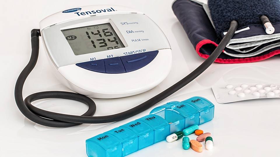 Ein erhöhter Wert beim Messen des Blutdrucks.