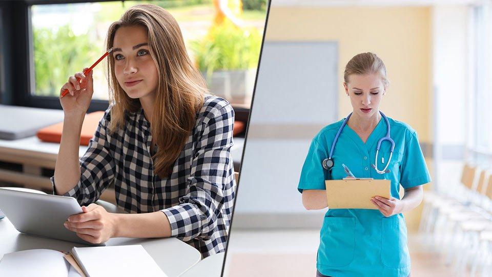Zeitarbeit in der Pflege als Möglichkeit, neben dem Studium zu arbeiten.