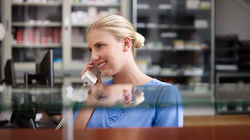 Supervision per Telefon.