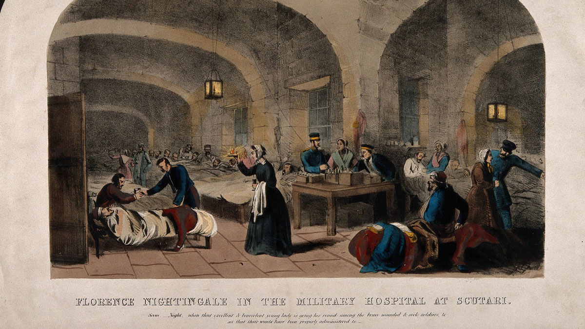 Darstellung von Florence Nightingale im Krim-Krieg